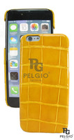 "PELGIO Genuine Crocodile Belly Skin Mobile Phone i6 4.7"" Hard Case Yellow"