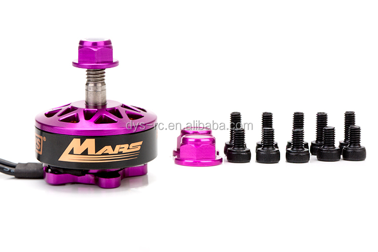 DYS brushless motor Mars 2400KV 2750KV CW CCW with high powerful pull 1400g/1550g support 3-6s for FPV racer