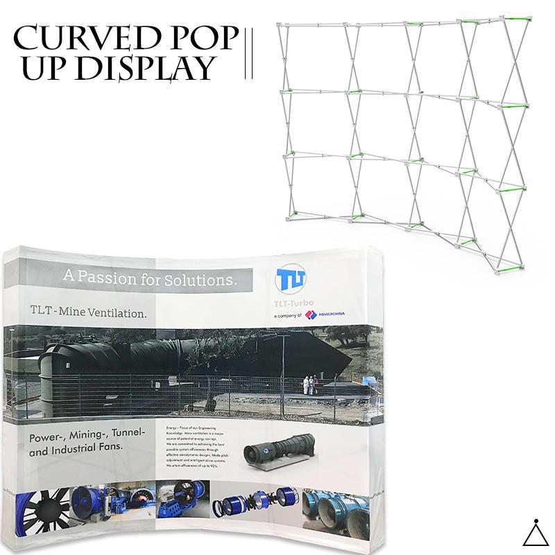 pop up display straight