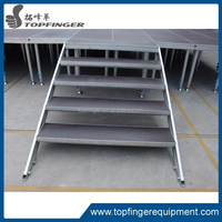 Trade Show Mobile Stage For Sale With Plywood Strong Material