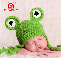 RZWOLF funky fashion frog baby knit crochet animal hat pattern