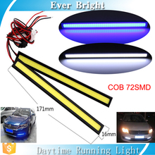 Factory price Headlight Waterproof 2pcs DRL Light Led COB 17cm 76SMD 3W Led Daytime Running Light for car