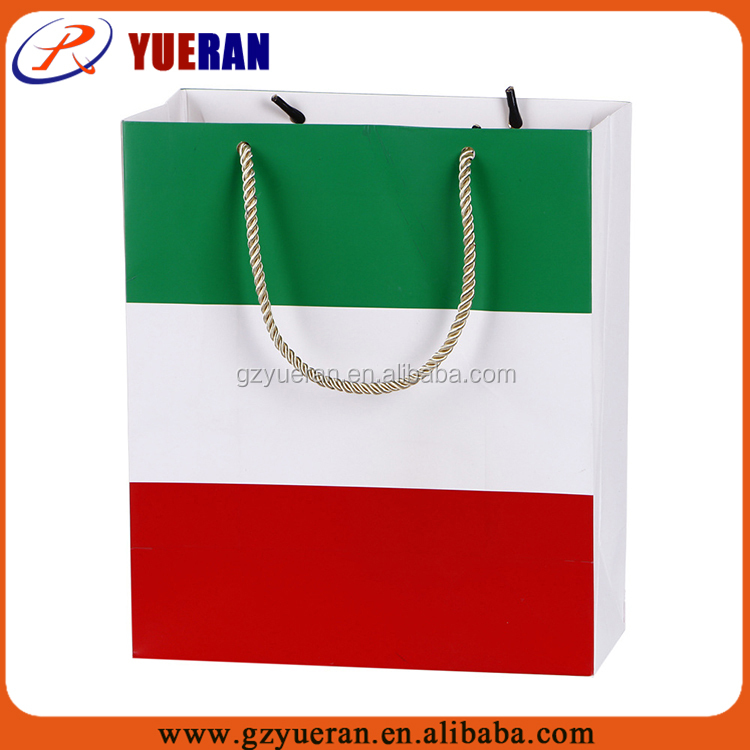 YueRan luxury high quality cheap eco-friendly custom paper bags in india for wholesale with printed logo