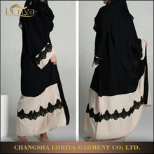 Muslim Dress Arabic Abaya For Fashional Women Black Kimono Abaya in Stock