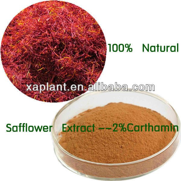 GMP Manufacturer Safflower Extract 2%Carthamin Powder