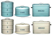 2016 Kitchen Painted Metal Cake Bread Bin/ Novelty Tin Jar