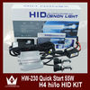 Wholesale 55W AC Super Bright Light H4 Bi xenon Conversion Headlight Kit 3000K 4300K 6000K 8000K 12000K