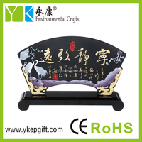 Wholesale custom novelty wood Chinese characeters gifts for Home Decoration