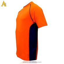 High quality polyester spandex Breathable dry fit wholesale mens plain t shirt