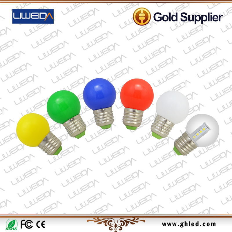 CE ROSH approved AC/DC12V LED colorful 3W tree bulb with 2years warranty