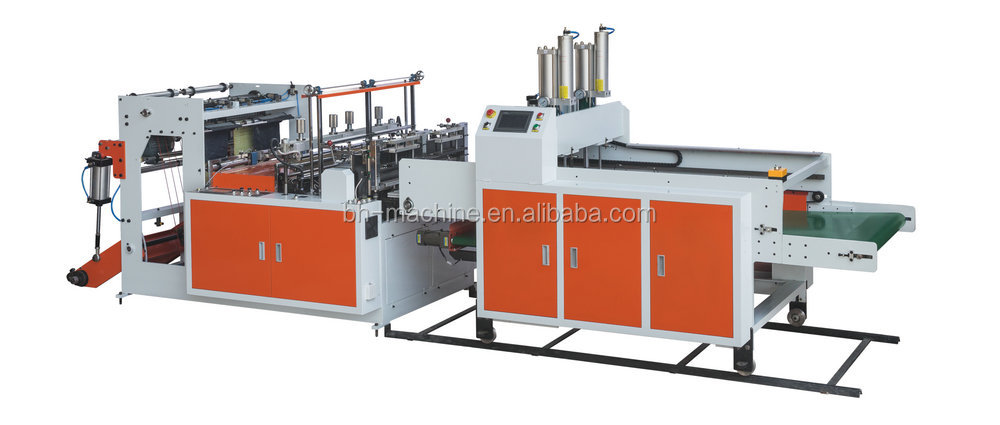 Computer Control 2 Servo Bottom Sealing plastic and Cutting Bag making Machine