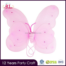 Silk Handmade Butterfly Fairy Wing And Wand Dress Up Set Carnival Costume Dress Up Games For Girls