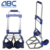 Steel frame folding carrying cart / aluminum metal folding luggage carrier cart