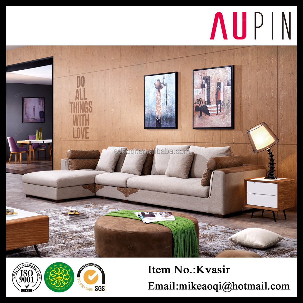 Modern simple corner wooden frame fabric sofa set designs and prices