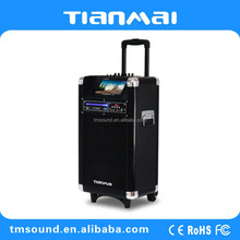 Party Portable Rechargeable Professional bluetooth dj speakers with trolley(A-1010DPI)