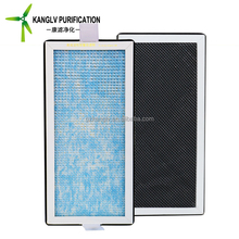 Hot sale customized green mini pleat hepa air filter for air purifier, air conditioner , ventilator or car