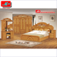 fancy antique style simple design wooden bedroom furniture set for hotel
