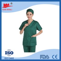 Disposable SMS/PP patient dress, patient uniform suit, disposable hospital dress
