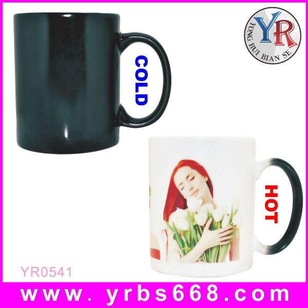 2014 wholesale promotable product color-changing drinkware ceramic fondue mug