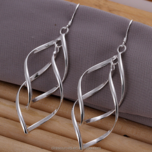 Banana leaf design earring fashion silver earrings women