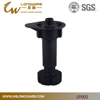 Adjustable height plastic legs for kitchen cabinet furniture