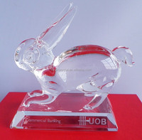 Chinese zodiac crystal rabbit for souviner