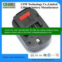 12V 2000mAh NIMH replacement battery pack for Black and Decker