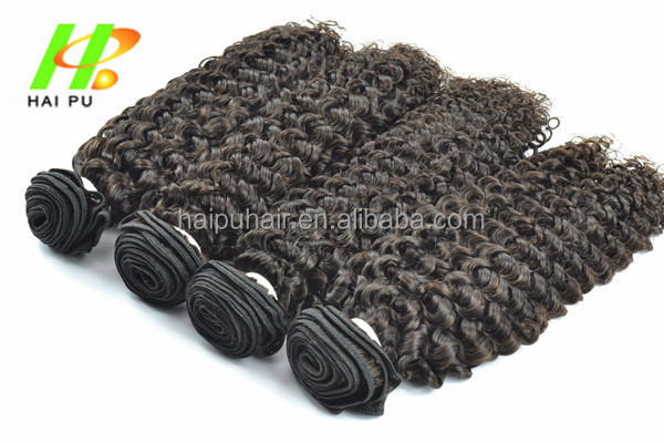 Tangle Free 100% Human Unprocessed Remy BrazilianJerry Curly Vrigin Hair Extensions