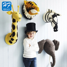 New Design Wholesale All Kinds Of Soft Felt Wall Mounted Animal Head
