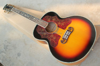 "free shipping high end 43""solid Jumbo acoustic round back acoustic guitar"