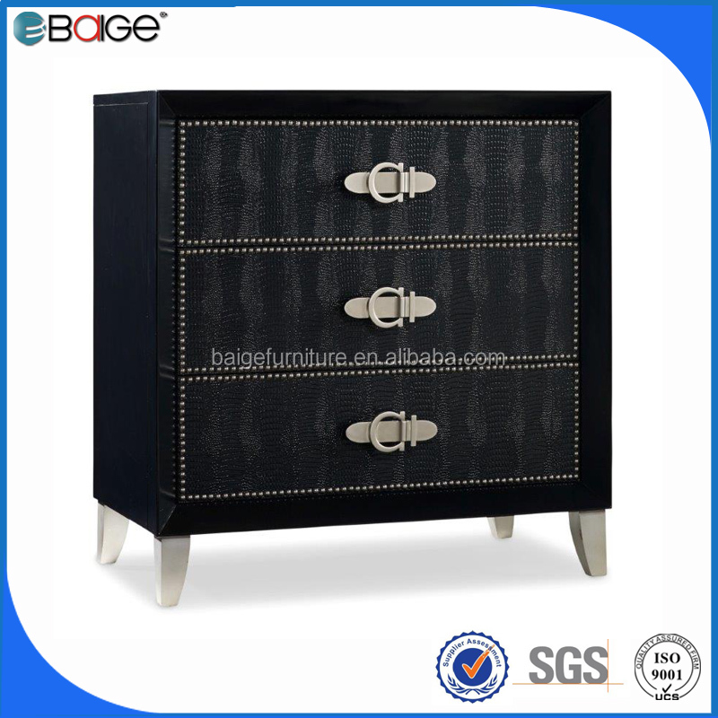 B-1507 Living room furniture black mini design cabinet europe style cabinet