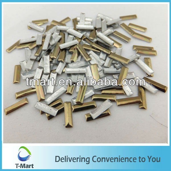 cheap price embellished metal rectangle studs