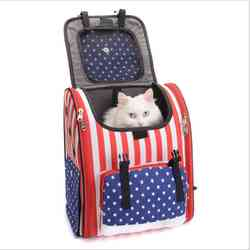 Fashion Durable Canvas Cat Travel Carrier Pet Backpack for Pet Dog Cat