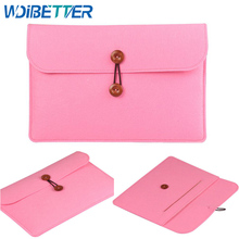 "Customized Felt Laptop Sleeve Bag Pouch Case 14"" 15.5"" For Macbook Pro 15 retina 15"""