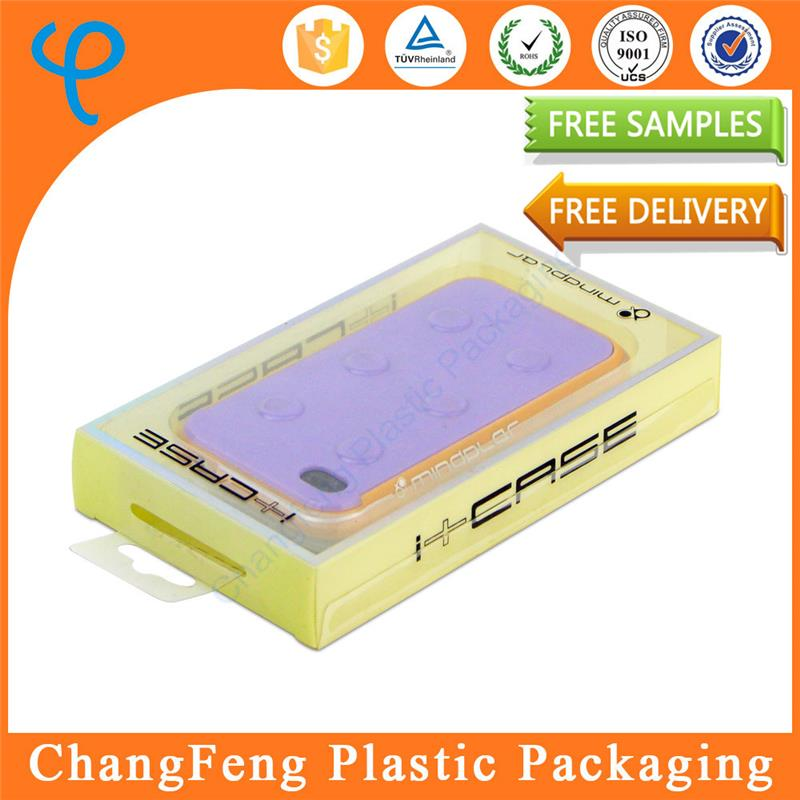 Cheap clear plastic enclosure box storage for cell phone case