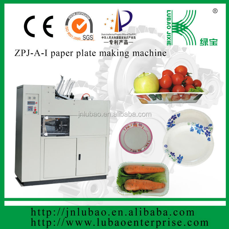 printable disposable paper tray paper plate machine with CE certificate and easy handling
