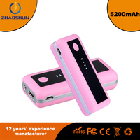 5200mAh Universal Aluminum Metal Portable Backup External Battery USB Power Bank Charger For Cell Phone mobile devices