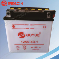 12N9-BS Motorcycle Lead Acid Battery Dry Charged Type Cheap Price