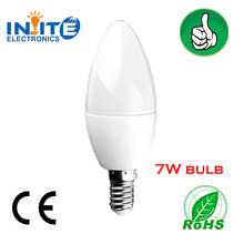 Ningbo factory candle bulb E14 220V 6W 7W used in chandelier for led lamps importer