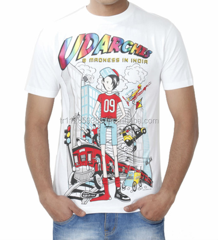T-SHIRT, PRINTED, KNITTED JERSEY, BURNOUT JERSEY, CHEAP TSHIRT