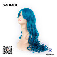 Cheaper Synthetic Hair Cosplay Wigs Production machine made Body Wave Hair Wig full lace wigs