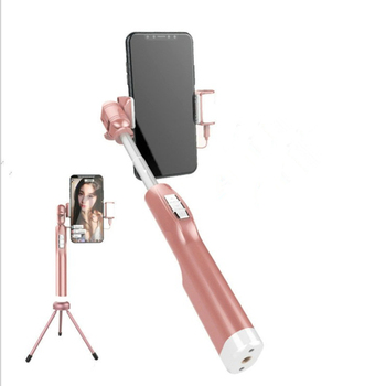 All-weather mobile phone Wireless Bluetooth selfie stick mini fill light beauty photo selfie stick aluminum alloy self-timer
