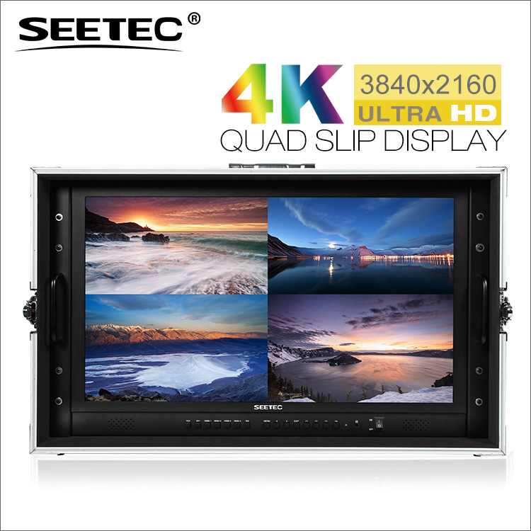 NAB Exhibition metal case director monitor 24 led lcd monitor with 4k resolution