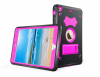 Tough bumper stand TPU and hard pc combo defender case for iPad mini 123