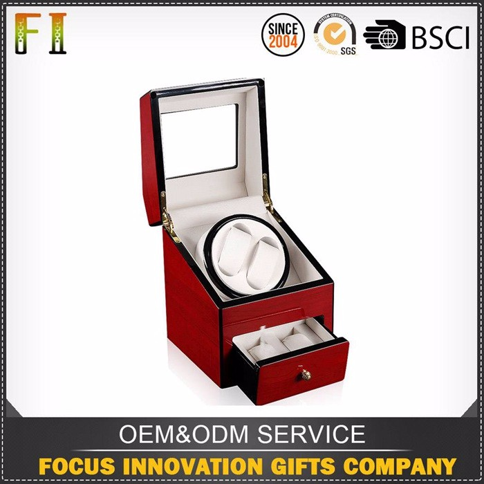 Factory Wholesale Custom leather watch winder box square