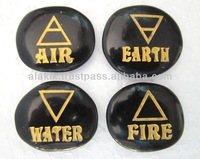 Wholesale Element Air water Fire Earth Black Obsidian Set