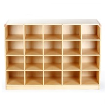 Preschool classroom furniture big capacity 24-cubby toys display cabinet kids wooden cabinet
