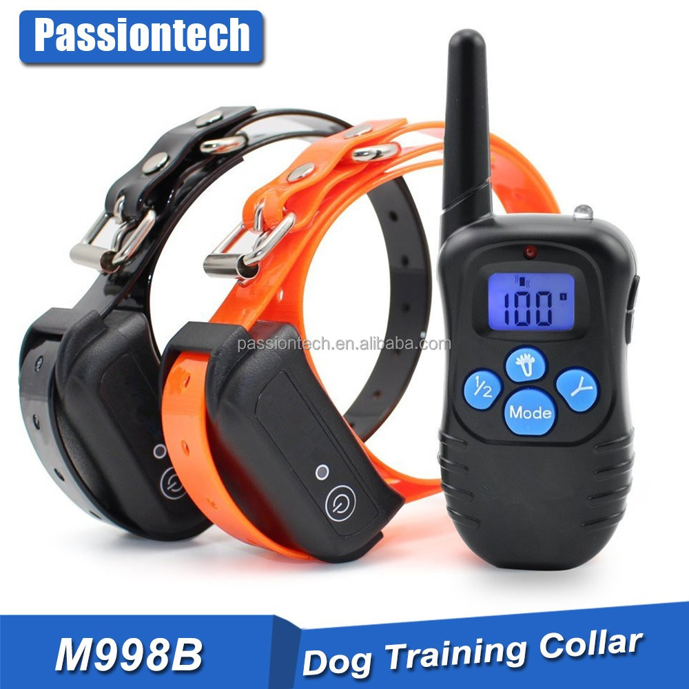 Pet Tech Remote Controlled Dog Training Collar, Rechargeable and Waterproof, All Size Dogs (10Lbs - 100Lbs), 330 Yard Range