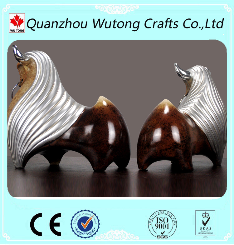 office decoration fengshui resin bull figurine