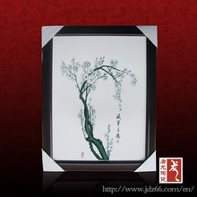 Modern style good quality white plum flower paintings famous artists for art collection
